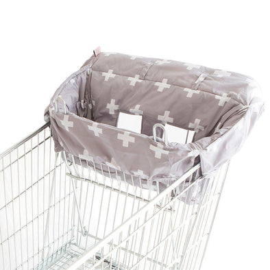 Bambella Designs Trolley Liner Grey Crosses
