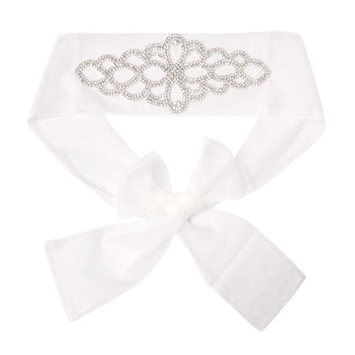 Melody Diamond Belt Ivory