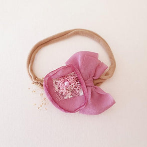 Chiffon Flower Headband Rose