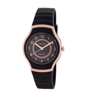Sunset Waterproof Watch Rose Gold/Black