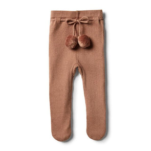 Wilson & Frenchy Nutmeg Knitted Legging With Feet