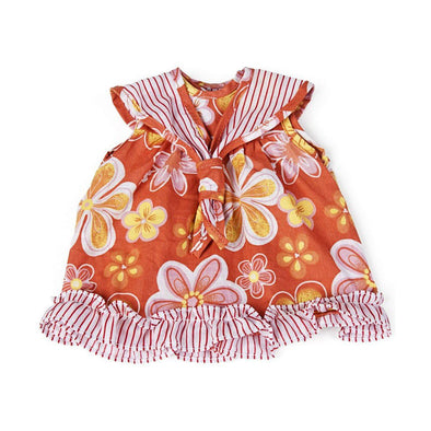 Miniland Clothing Orange Floral Dress 38-42cm