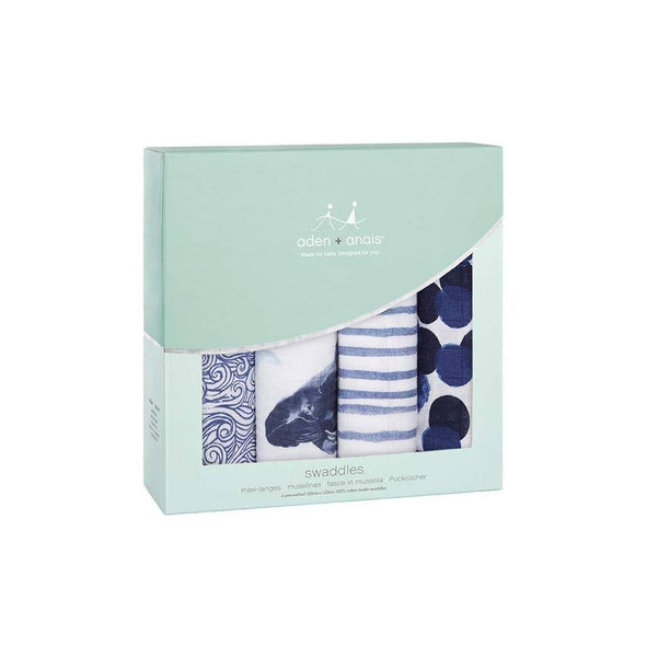 Classic Swaddles 4pk Seafaring