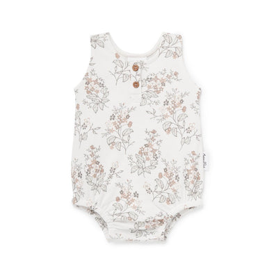 Aster & Oak Floral Bubble Romper