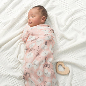 Silky Soft Single Swaddle Pretty Petals