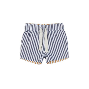 Huxbaby Reversible Chino Short Navy+Mustard