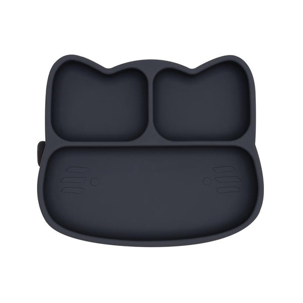 Cat Stickie Plate Charcoal