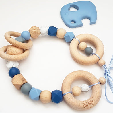Scandi Pram Garland Blues