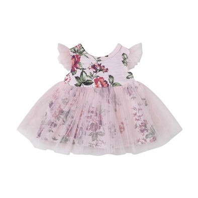 Pearl Floral Doll Dress Pink