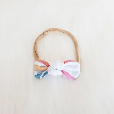 Watercolour Rainbow Mini Bow Headband