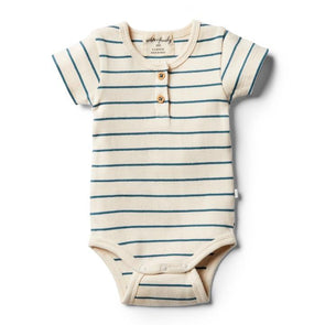 Wilson & Frenchy Jungle Green Stripe Bodysuit