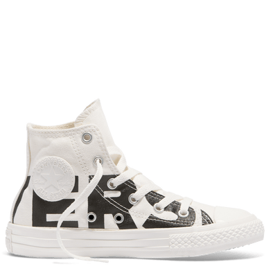 Converse Junior Word Mark High Top Natural
