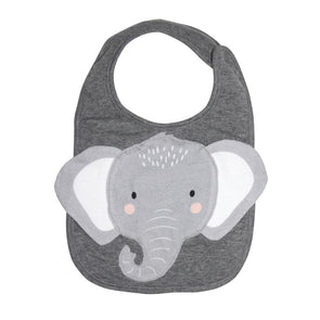 Grey Elephant Face Bib