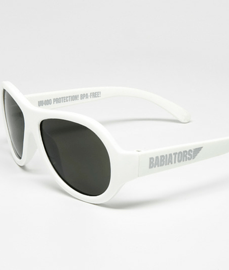 Wicked White Aviator Babiators