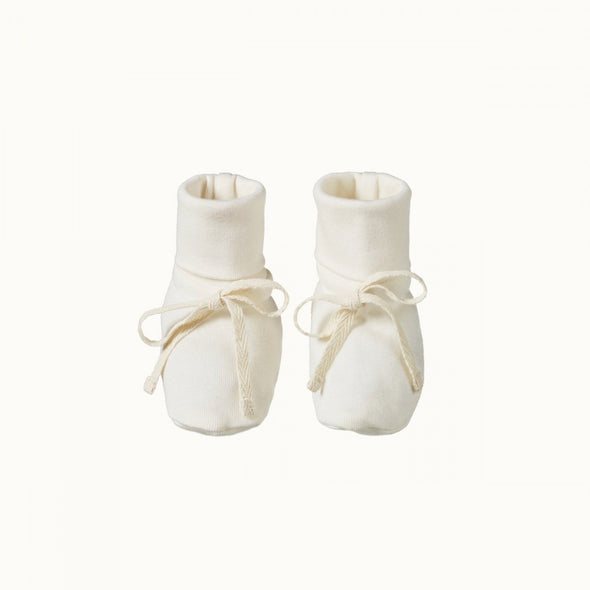 Natural Baby Cotton Booties Natural
