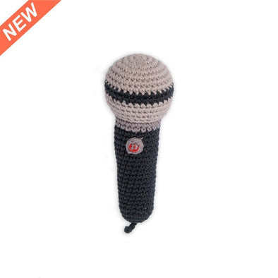 Mini Microphone Crochet Rattle