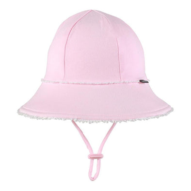 Blush Ruffle Trim Baby Bucket Hat