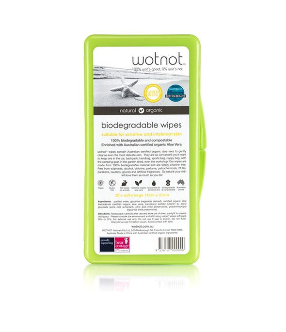 Wotnot Biodegradable Baby Wipes With Travel Case