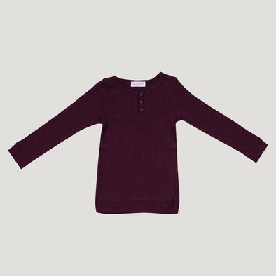 Jamie Kay Cotton Modal Henley Top Mulberry