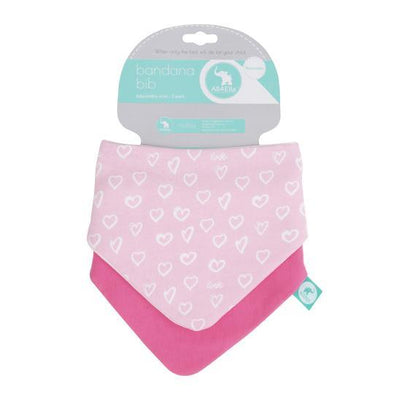 All4Ella Reversible Bandana Bibs 2pk Hearts