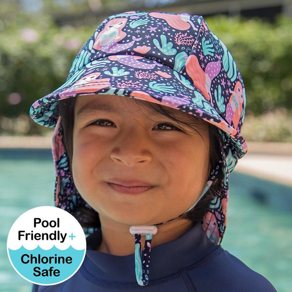 Mermaid Legionnaire UPF50+ Swim Hat