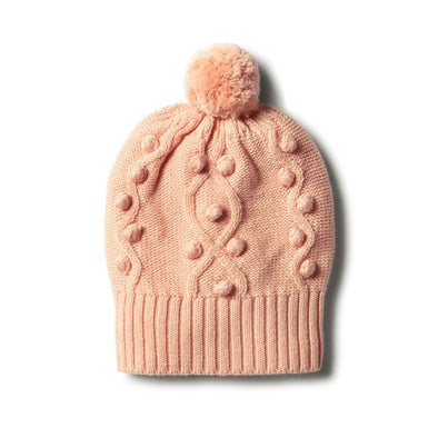 Wilson & Frenchy Tropical Knitted Hat With Baubles