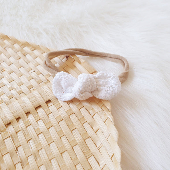 Vintage Lace Mini Bow Headband