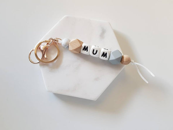 Mum Rose Gold Hexi Key Ring