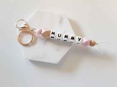 Mummy Rose Gold Hexi Key Ring