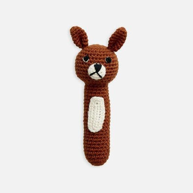 Miann & Co Crochet Hand Rattle Pumpkin Spice Bunny