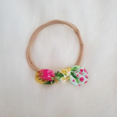 Summer Bouquet Mini Bow Headband