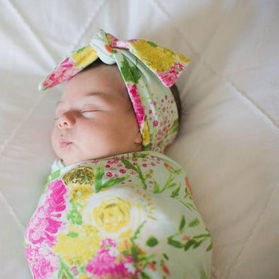 Summer Bouquet Swaddle Wrap