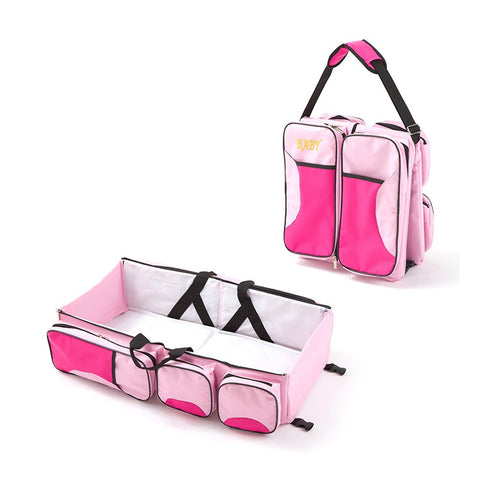 3 in 1 Multi Purpose Diaper Bag Cum Baby Bassinet