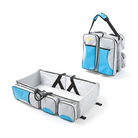 Image of 3 in 1 Multi Purpose Diaper Bag Cum Baby Bassinet