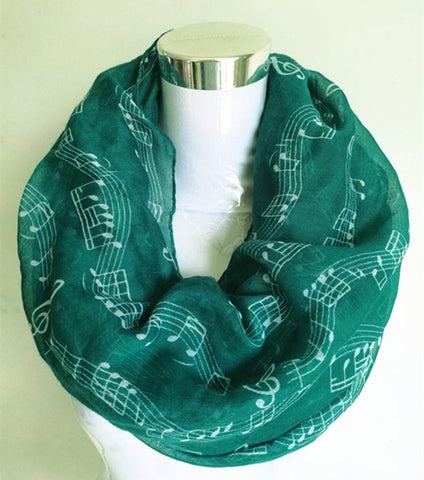 Image of Music Notes Scarf - Perfect Anthem