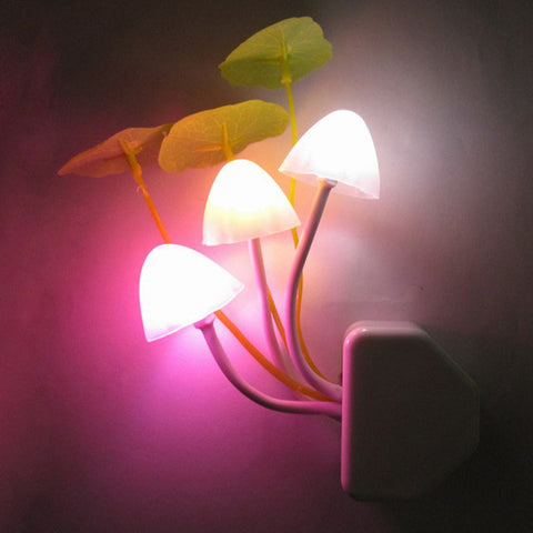 Image of Color-Changing Mushroom LED Night Light