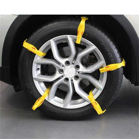 Image of ANTI-SKID CAR TIRE SNOW CHAINS