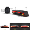 Meilan X5 Bicycle Laser Tail Light with Turn Signals Auto Control Remote