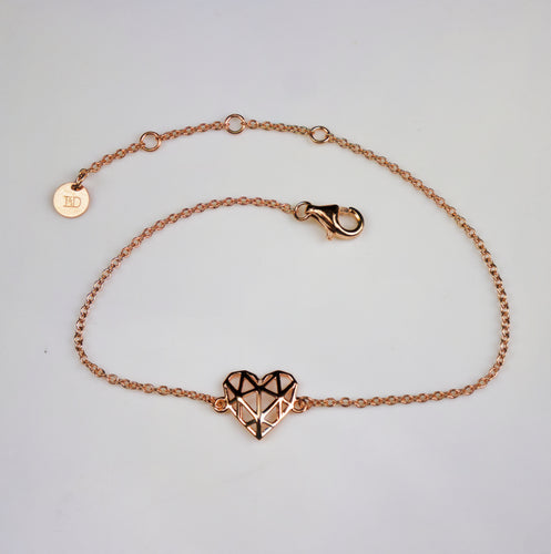 Mini Rose Geo-Heart Bracelet