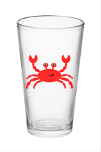 Set of Two Drinking Glasses- Red Crab