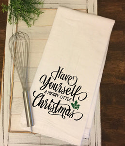 """Merry Little Christmas"" Tea Towel"