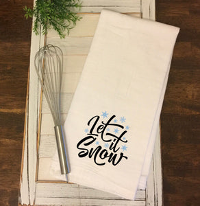 """Let it Snow"" Tea Towel"