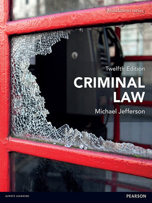 Criminal Law (Foundation Studies in Law Series) 12th