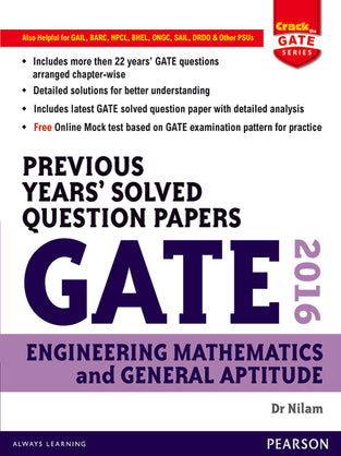 Previous Years' Solved Question Papers GATE 2016 Engineering Mathematics