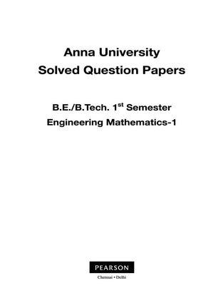 Engineering Mathematics : Anna-USDP