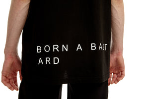 A-sleeve T-shirt, Black, BORN A BASTARD