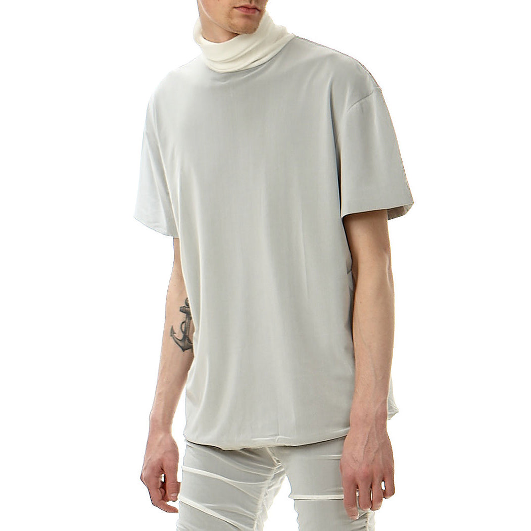 Turtle neck mesh top, Off white
