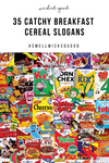 35 Catchy Breakfast Cereal Slogans