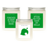 Animal Crossing Gift Set - Soy Wax Candles - Animal Crossing Commentary Candles - Smells Like Candle | Wicked Good