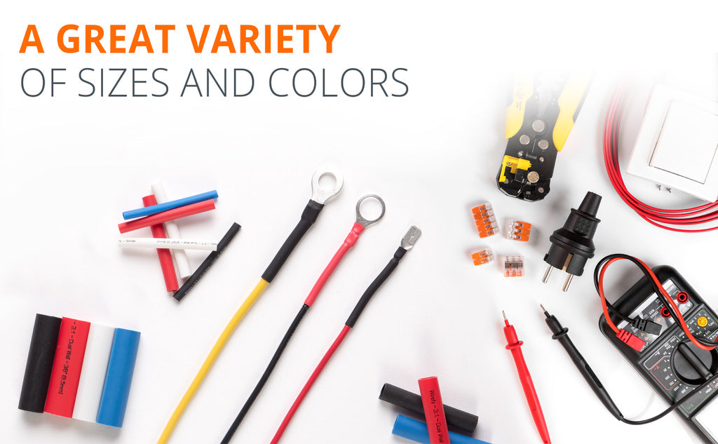 heat shrink tubing kit wirefy variety of sizes and colors